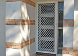 Hinged Security Door - Diamonf Grille