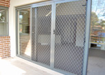 Sliding Security Door - Diamonf Grille